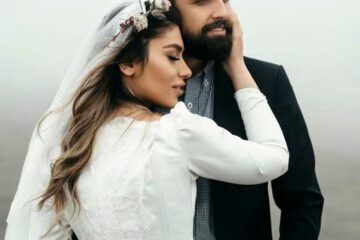 شنا محسن افشانی و همسر جدیدش + عکس