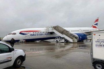 سقوط هواپیمای انگلیسی در فرودگاهی در لندن
