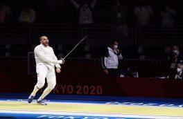 شاهکار پاکدامن در مسابقات شمشیربازی المپیک توکیو/ قهرمان ۲ دوره المپیک مغلوب سابریست ایران شد