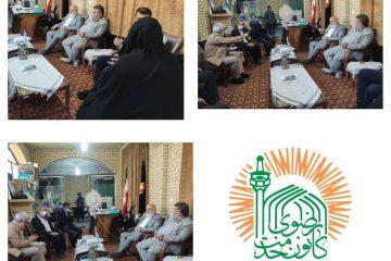 سرپرست کانون های خدمت رضوی استان تهران از دفترکانون خدمت رضوی شهرستان ورامین بازدید کرد