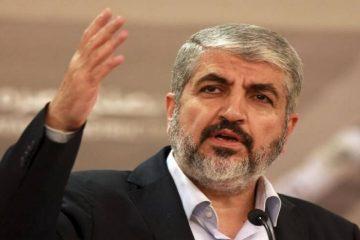 گفتگوی تلفنی خالد مشعل با رؤسای قوای سه گانه لبنان